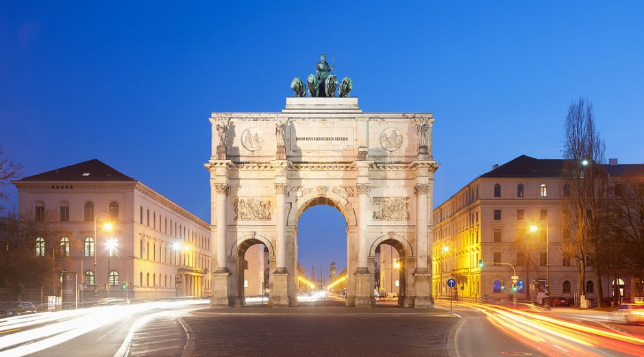 The Monuments of Munich: Siegestor (Victory Gate)