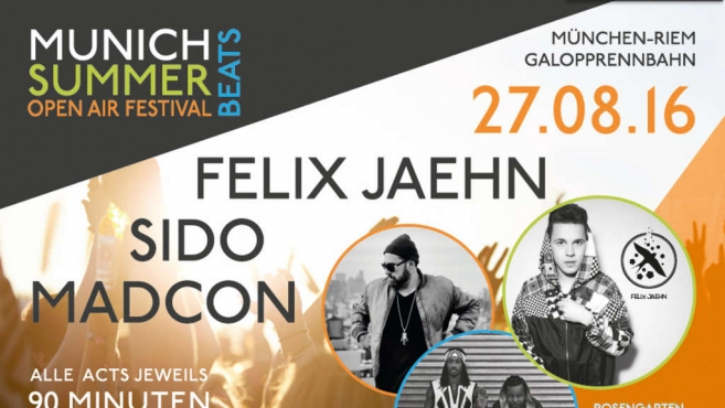 New Festival: Munich Summer Beats with Felix Jaehn, August 27